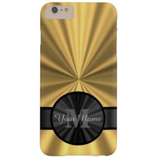 Monograma personalizado oro elegante elegante funda barely there iPhone 6 plus