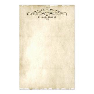 Monograma personalizado pergamino viejo del estilo papeleria de diseño
