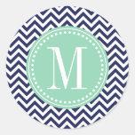 Monograma personalizado zigzag de Chevron de la ma