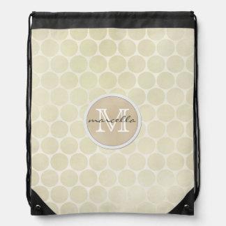 monograma poner crema del fondo de los puntos mochila
