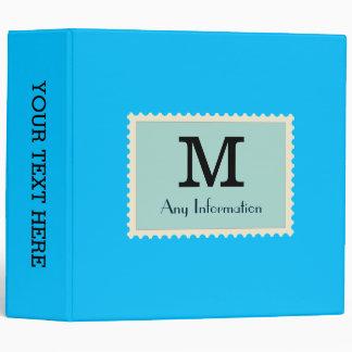 """Monograma profundo elegante del color del azul de carpeta 2"""""""