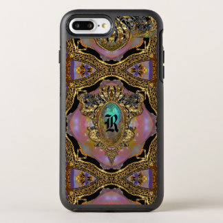 Monograma protector del gótico elegante de funda OtterBox symmetry para iPhone 7 plus