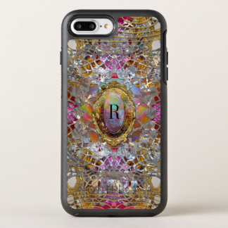 Monograma protector del kaléidoscope fresco de funda OtterBox symmetry para iPhone 7 plus