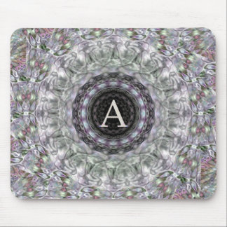Monograma púrpura A de la estrella de la onda Alfombrillas De Raton