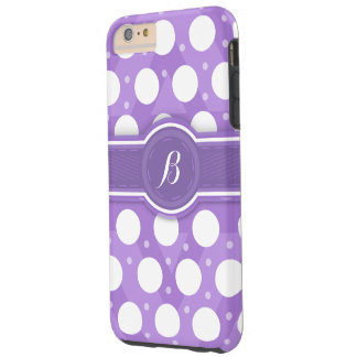 Monograma púrpura (B) caso de Iphone 6 de los Funda Para iPhone 6 Plus Tough