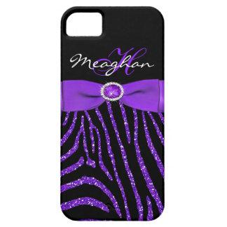 Monograma púrpura caja negra del iPhone 5 de la c iPhone 5 Case-Mate Cobertura