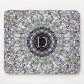 Monograma púrpura D de la estrella de la onda Alfombrilla De Ratones