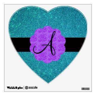 Monograma púrpura de los rosas del brillo de la tu