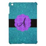Monograma púrpura de los rosas del brillo de la tu iPad mini cárcasa