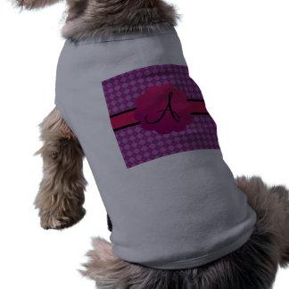 Monograma púrpura del argyle camisas de perritos