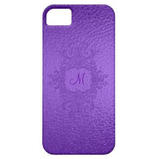 Monograma púrpura del Mirada-Personalizado del vit iPhone 5 Cárcasa