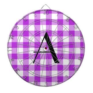 Monograma púrpura del modelo de la guinga tablero dardos