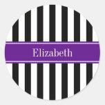 Monograma púrpura del nombre de la cinta de la ray