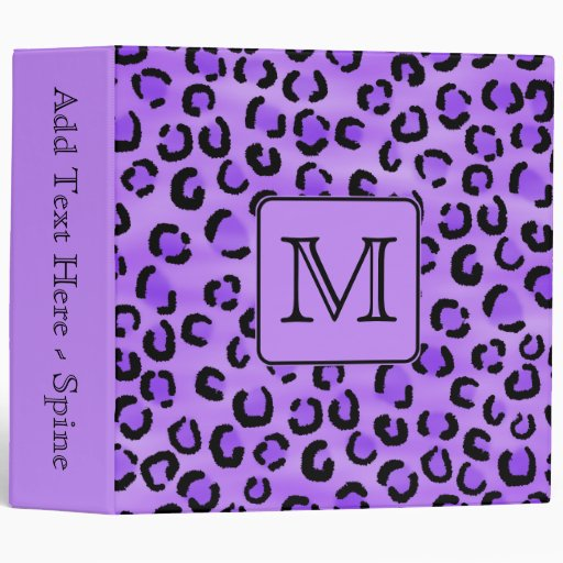 """Monograma púrpura del personalizado del estampado carpeta 2"""""""