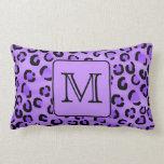 Monograma púrpura del personalizado del estampado  almohadas