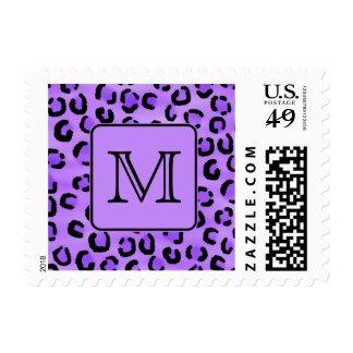 Monograma púrpura del personalizado del estampado envio