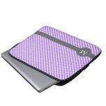 Monograma púrpura del personalizado del modelo de  mangas portátiles