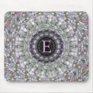 Monograma púrpura E de la estrella de la onda Alfombrillas De Raton