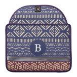 Monograma (púrpura) femenino geométrico tribal étn