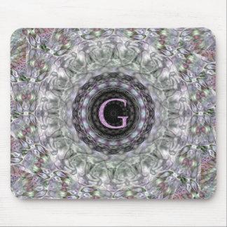 Monograma púrpura G de la estrella de la onda Alfombrillas De Raton