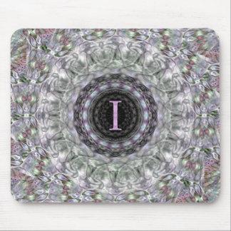 Monograma púrpura I de la estrella de la onda Alfombrilla De Ratones