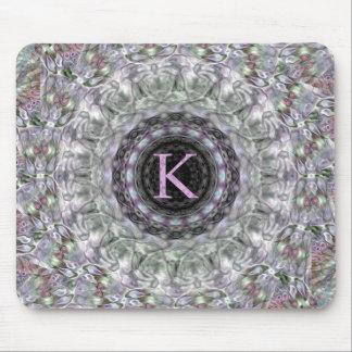 Monograma púrpura K de la estrella de la onda Alfombrilla De Ratón