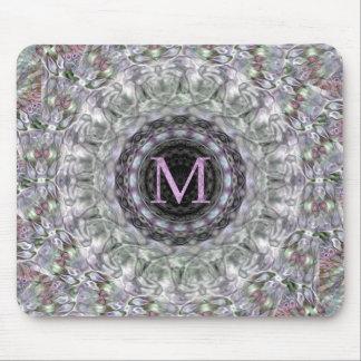 Monograma púrpura M de la estrella de la onda Tapetes De Ratones