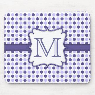 Monograma púrpura Mousepad del lunar Tapete De Raton