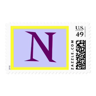 "Monograma púrpura ""N "" Sellos"