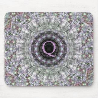 Monograma púrpura Q de la estrella de la onda Alfombrilla De Raton