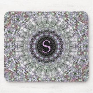 Monograma púrpura S de la estrella de la onda Alfombrilla De Raton
