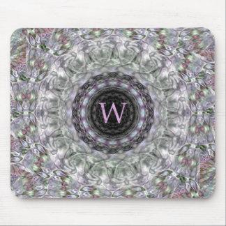 Monograma púrpura W de la estrella de la onda Alfombrilla De Ratones