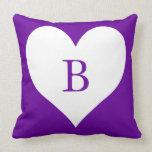 Monograma púrpura y blanco del corazón