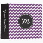 Monograma púrpura y blanco del personalizado del m