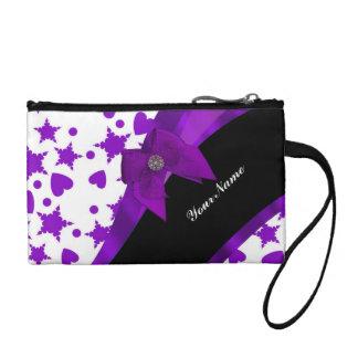 Monograma púrpura y blanco modelado femenino