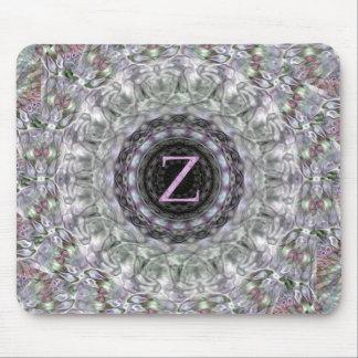 Monograma púrpura Z de la estrella de la onda Tapetes De Raton