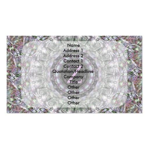 Monograma púrpura Z de la estrella de la onda Tarjetas De Visita
