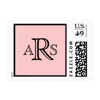 Monograma que casa el sello rosado