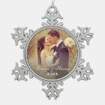 Monograma que se casa personalizado del ornamento adornos