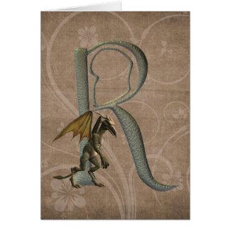 Monograma R de los Gargoyles Tarjeta De Felicitación