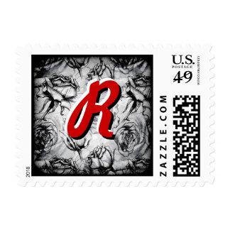 Monograma R Deco personalizado inicializado Envio