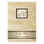 Monograma reluciente de lujo elegante elegante tarjetas personales