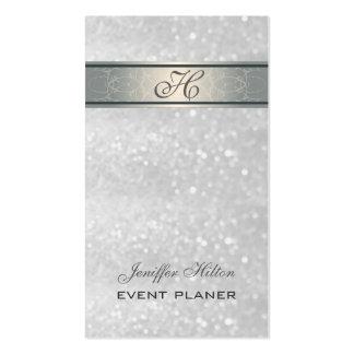 Monograma reluciente de lujo elegante elegante tarjeta de visita