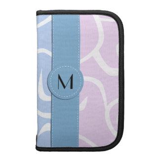 Monograma - remolinos rizados - púrpura blanca planificadores