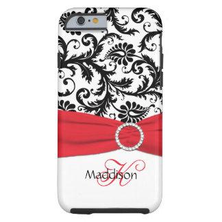 Monograma rojo iPhone negro blanco 6 Ca del