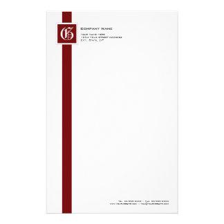 Monograma rojo, negro y blanco profesional de la r papelería personalizada