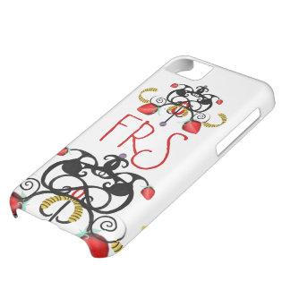 MONOGRAMA ROJO Y NEGRO FUNDA PARA iPhone 5C