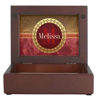Monograma romano caja de recuerdos