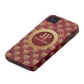 Monograma romano iPhone 4 Case-Mate fundas