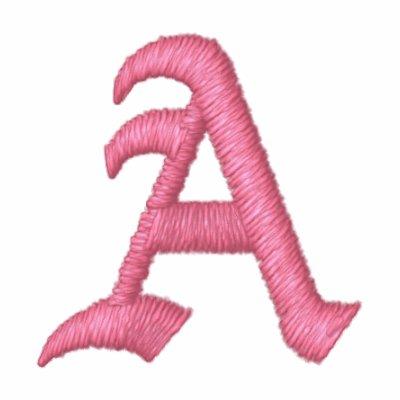 Monograma rosado A